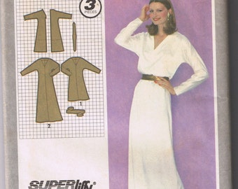 SIMPLICITY 9584 Misses Pullover Dress & Sash -Size 14 Uncut and Factory Folded