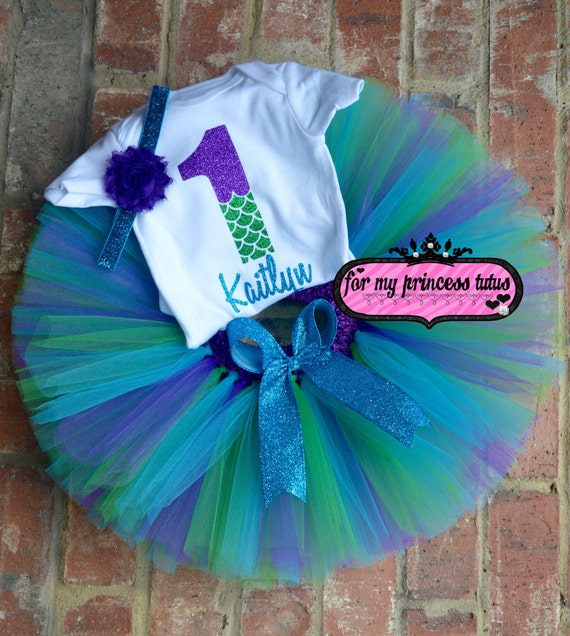 Mermaid First Birthday Outfit Personalized Mermaid Onesie