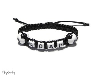 Boys Bracelet, Football Bracelet, Soccer Bracelet, Name Bracelet, Personalized Gift, Toddler Bracelet, Boys Jewelry, Birthday Gift, Boy Gift