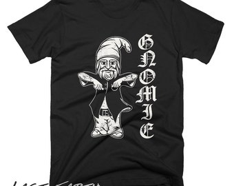 Gnomie Homie T Shirt Funny Gnome Gangster Tshirt Funny Tees Gardeners Straight Outta The Lawn Chillin Gnomies Mens Womens Gift T Shirt