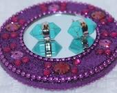 Green Howlite Turqouise Hexagonal Gemstone Silver tone Stud Earrings Handmade