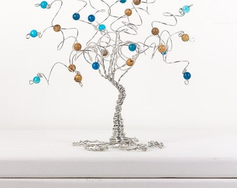 Sand and Sea A Whimsical One of a Kind Tree Wire Art Tree Sculpture