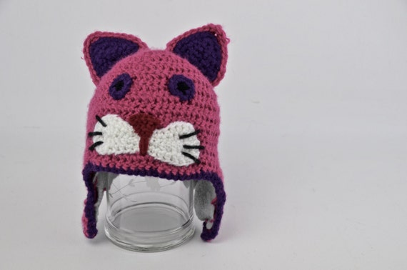 Hand Crochet Cat Hat: Made to Order in any Size