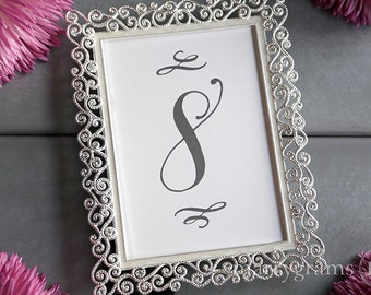 Table Number Signs - Perfect for Wedding Reception - Table Cards Fancy Script, Elegant Simple Table Numbers - Seating Card (Set of 10) SS12