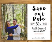Classic Save The Date, Modern Save The Date, Printable