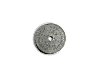 Vintage Token Washington State Tax Commission Token 1935 sales tax Token Aluminum