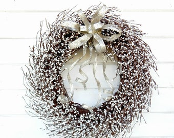 Wedding Wreath-White Wreath-Winter Wreath-Fireplace Wreath-Holiday Wreath-Wedding Wreath-Winter Wedding-Mantle Wreath-Bridal Wreath-Gifts