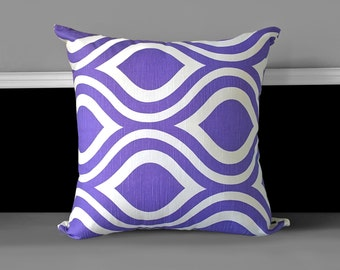 "Pillow Cover - Emily Purple Thistle 20"" x 20"", Ready to Ship"