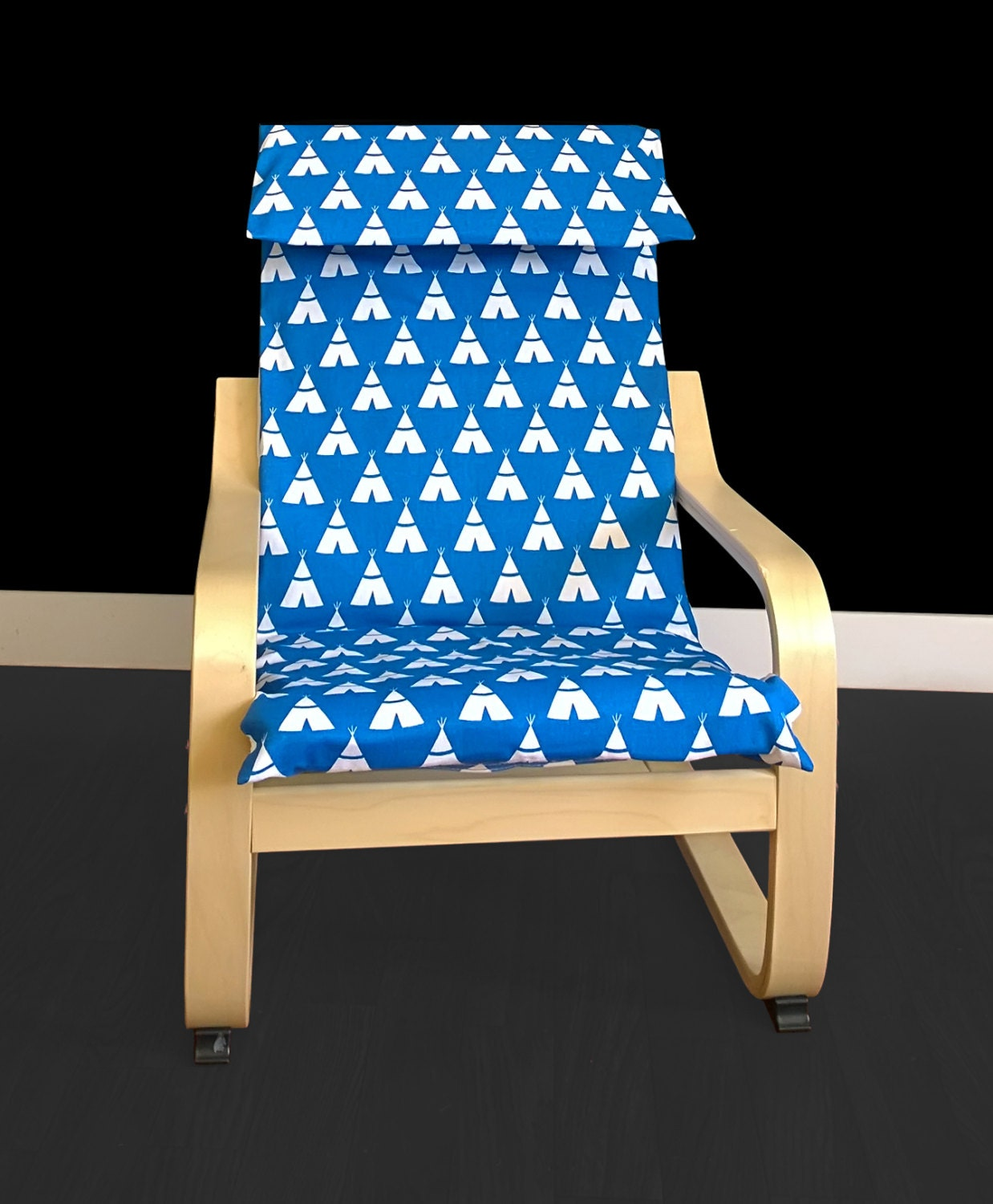 kids teepee ikea poang chair cover children 39 s poang cover. Black Bedroom Furniture Sets. Home Design Ideas