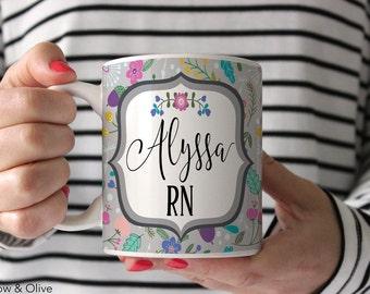 Nurse Mug RN Mug Personalized Nurse Mug Nurse Appreciation Gift Nurse Graduation Gift Nurse Gift Registered Nurse Gift RN Nurse Cup N0001
