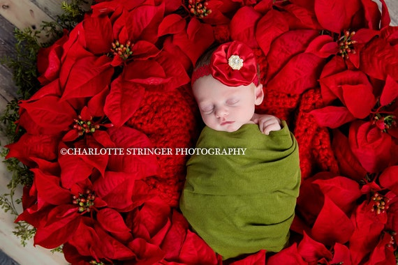 Christmas Headband, Red Baby Hairbows, Baby Headband, Baby Bows, Holiday Hair Accessories, Baby Girl Headband. Christmas Gift, Infant Bows