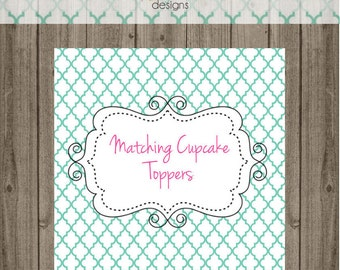 Matching Cupcake Toppers - for any of Punky Doodle Designs cards