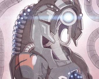 Geth Legion Mass Effect Tribute Poster Print Art