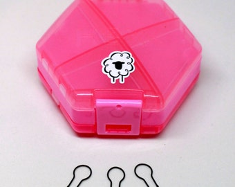 Notions Accessory Stitch Marker Case - Storage for Knitters and Crocheters - {pink flamingo}