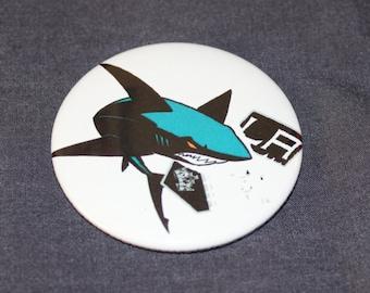 "San Jose Sharks Hockey Beat LA Eat Pinback Button or Magnet 2.25"""