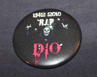 Ronnie James Dio Memoriam RIP Pinback Button or Magnet 2.25""