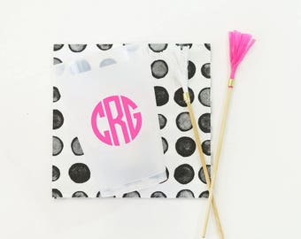 Monogram Cups Personalized Bar Cart Cups Frosted Shatterproof Neon Pink Cup Wedding Favors Girls Birthday Party Custom Printed Solo Cups