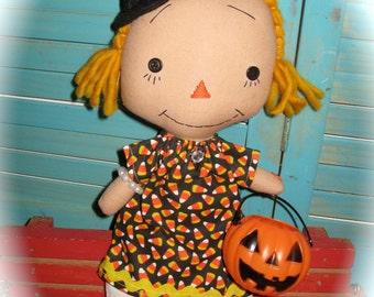 Primitive Annie Ann Halloween Witch Fall OOAK