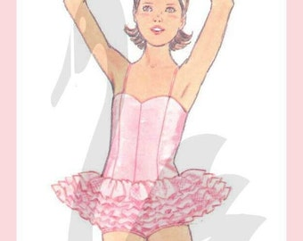 Vintage Childs Ballerina Tutu Costume Sewing Pattern Size 4-8 PDF