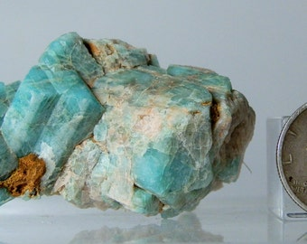 Natural Amazonite Feldspar Microcline Crystal Specimen Rough Mineral From Park County Colorado 34.32 grams natural Facets DanPickedMinerals
