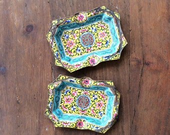 Enamel on Copper AshTray Small Vintage Cloisonne Tray