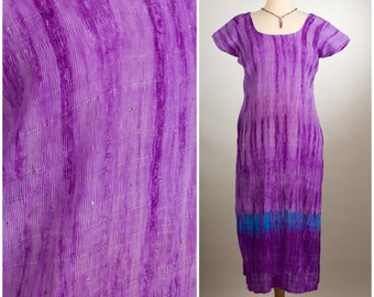 Lavender Blue Sparkly Faery Indian Kurti Tunic. Size Small.