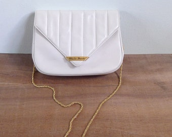 10 to 25% OFF (See Shop) Vintage 70's Charles Jourdan Leather Shoulder Bag with Chain Strap