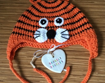 Handmade Crochet Tiger Hat
