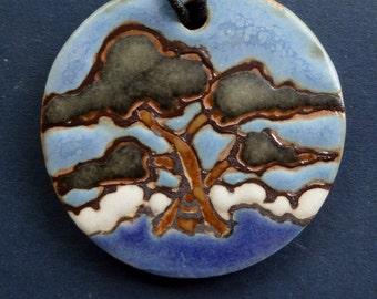 Monterey Cypress Ceramic Necklace