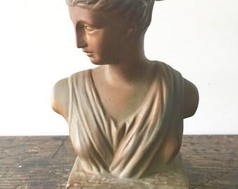 SALE Vintage 1963 Inarco Woman Greek / Roman Woman Bust Cleveland Ohio