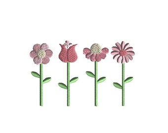 Stems (Flowers) Machine Embroidery Design-INSTANT DOWNLOAD
