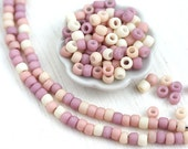 10g Toho Seed Beads Mix - Sweet Nectar - MayaHoney Special Mix, 8/0 size, Lilac, Peach, Cream - S1026