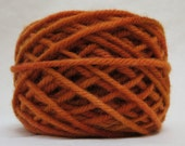 PUMPKIN, 100% Wool, 4 Ozs. 85 yards, 4-Ply, Bulky weight, already wound into cakes, ready to use.