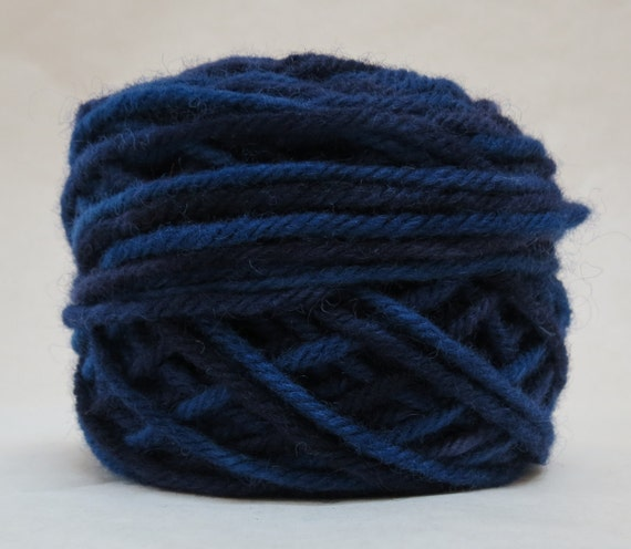 Liberty Blue, 100% Wool, 2 Ozs. 43 yards, 4-Ply, Bulky or 3 ply Worsted weight yarn, already wound into cakes, ready to use.