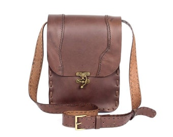 Leather Box Bag Cross Body With Adjustable Leather Strap  (BG4649-5C5)