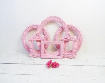 Vintage Heavily Ornate 6 Open Frame Collection Sweet Pea Pink Nursery Frames Wedding Decor