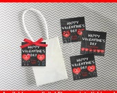 Chalkboard Valentine Tags - Heart Favor Tags - Valentines Day Gift Tags - Personalized Valentine Tags - Digital and Printed