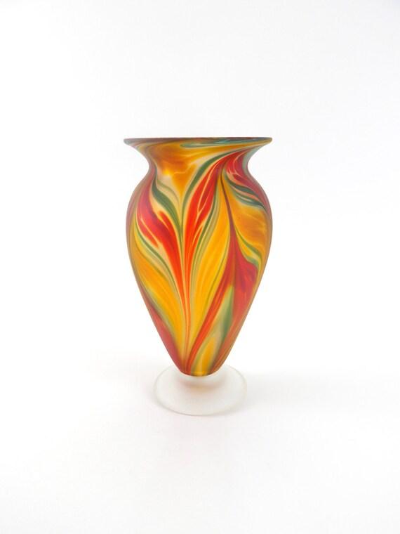 vase en verre souffl rouge. Black Bedroom Furniture Sets. Home Design Ideas