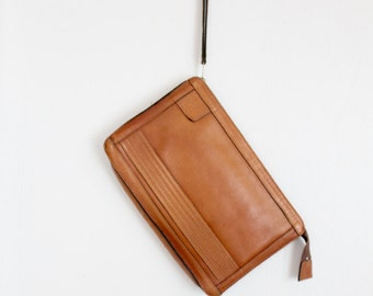 1970's leather wrist bag