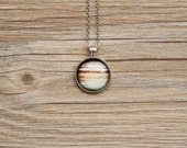 Planet Necklace, Galaxy Necklace, Jupiter Necklace -Cosmic, Astronomical, Star, Space, NASA- Galaxy Pendant Series G01