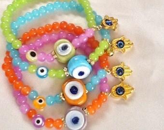 Evil eye bracelet ,Turkish bracelet , amulet bracelet, Hamsa bracelet , bohemian bracelet , gypsy bracelet ,middle eastern jewelry