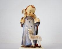 Vintage Porcelain Good Shepherd Hummel Style Figurine - Child Jesus as the Good Shepherd Napcoware Japanese Ceramic Figurine