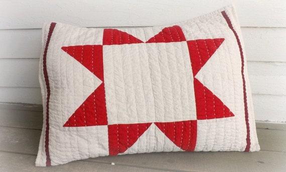 red star pillow sham standard size bedding farm by. Black Bedroom Furniture Sets. Home Design Ideas