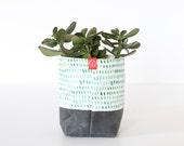 Fabric Bucket - Painted Spots