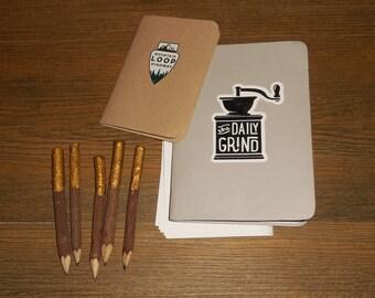 Gold Dipped Regular Twig Pencils - set of 5