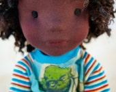 "MacKenzie; Max 23"" Natural Material Fiber Sculpture Doll.  Waldorf Inspired Doll"