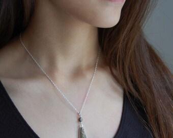Jasper Pendant Artisan Pendant Natural Stone Necklace Metalwork Jewelry Jasper Jewelry Gifts