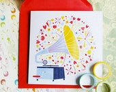 Sounds of Spring! Greeting card or greeting card set