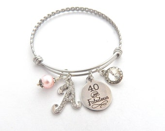 40 and Fabulous Gift, 50 and Fabulous Jewelry, Best Friend Bracelet, Sister Gift, Cousin Gift, 40th Gift, Funny Gift, Fun Gifts
