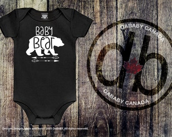 Baby Bear Bodysuit - Boho Baby Bear Arrow T-shirt - Cute Baby Clothes - Newborn Baby Girl Clothes - Newborn Baby Boy Clothes